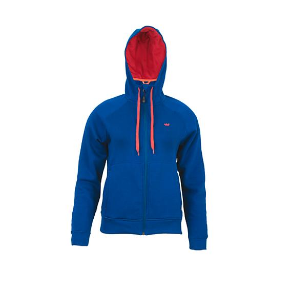 Winter wear Online  Women s Zippered Hooded Sweatshirt - Dark Teal 1f8156e092e1