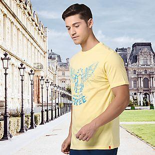 Wildcraft Men Backpack Printed T-Shirt - Yellow