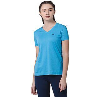 Wildcraft Women V Neck Crew T Shirt - Blue Melange