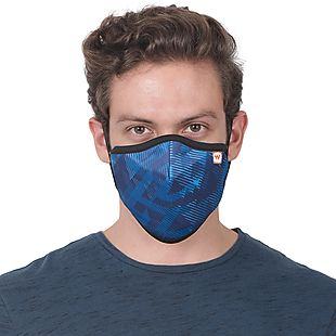 Wildcraft SUPERMASK W95 Plus Reusable Outdoor Respirator - SUBLIMATION TRIZI BLUE - Pack of 3