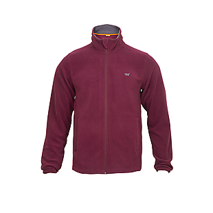Wildcraft Men Fleece Jacket - Maroon