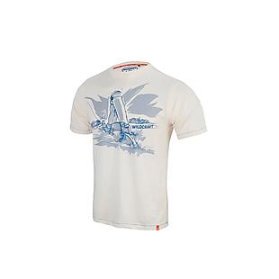 Wildcraft Men Crew T Shirt - Ecru