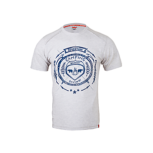Wildcraft Men Printed T-Shirt - Grey Melange