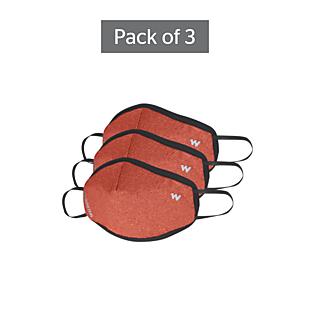Wildcraft SUPERMASK W95 Plus Reusable Outdoor Respirator - POINTEL ORANGE - Pack of 3